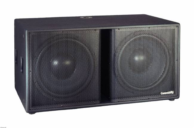 Community S-215S Subwoofer 2 x 15-Inch Black Paint