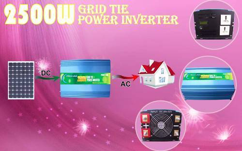 Power Jack 2500w/5000w GRID TIE INVERTER,28V DC/110V AC INVERTER