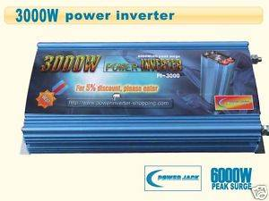 Power Jack Power Inverter 3000/6000 Watts,12v DC/110v AC,60Hz